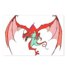 RED DRAGON BLACK Postcards (Package of 8)