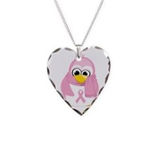 Breast Cancer Pink Penguin Necklace