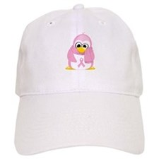 Breast Cancer Pink Penguin Baseball Cap