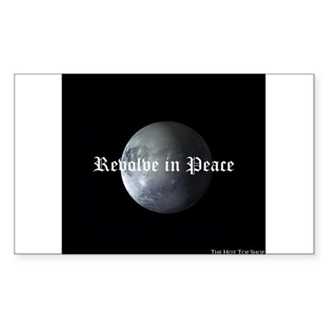 R.I.P. Pluto Sticker (Rectangle 50 pk)