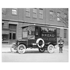 Holmes Bakery Delivery Truck, 1923 Canvas Art
