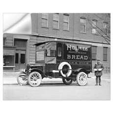 Holmes Bakery Delivery Truck, 1923 Wall Decal