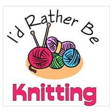 I'd Rather Be Knitting Canvas Art
