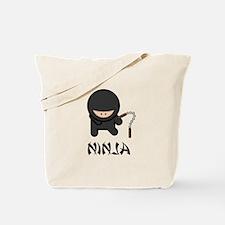 Ninja Nunchuck Tote Bag