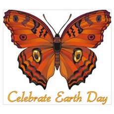 Earth Day Butterfly 6 Poster
