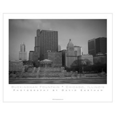 Buckingham Fountain in Grant Park - Chicago Poster