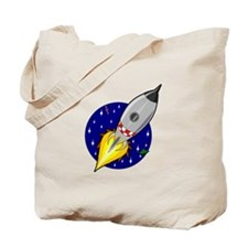 Spaceship Rocket Tote Bag