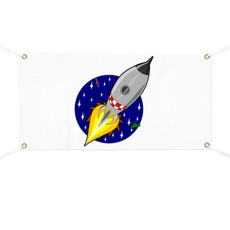 Spaceship Rocket Banner