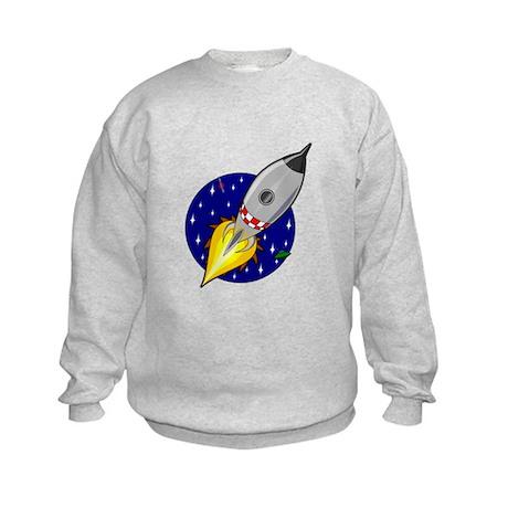 Spaceship Rocket Kids Sweatshirt