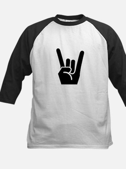 Rock Finger Symbol Kids Baseball Jersey