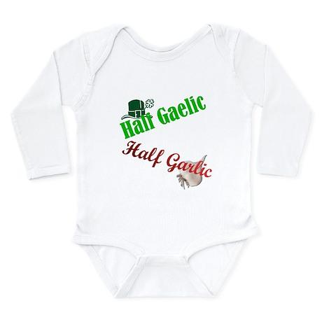 Half Gaelic Half Garlic Long Sleeve Infant Bodysui