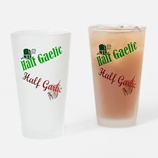 Half Gaelic Half Garlic Drinking Glass
