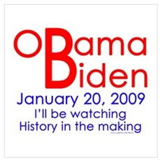 Obama Biden Jan. 20 History Poster