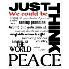Just Think Peace Framed Print