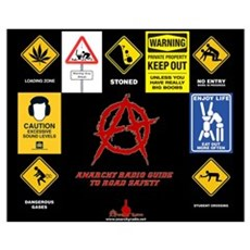 ANARCHY RADIO Guide to Road Safety Canvas Art