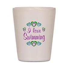 I Love Swimming Shot Glass