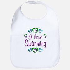 I Love Swimming Bib