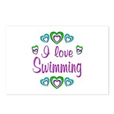 I Love Swimming Postcards (Package of 8)