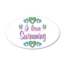 I Love Swimming 22x14 Oval Wall Peel