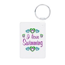 I Love Swimming Keychains
