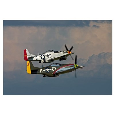 P-51 Mustang formation Framed Print