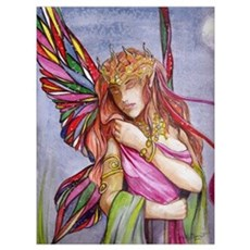 Moonlight fairy Framed Print
