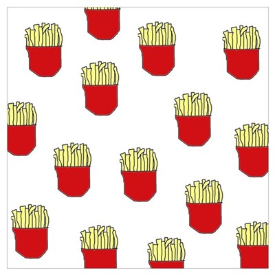 French Fries Dots Poster