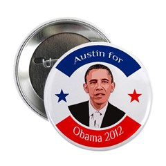 Austin for Obama 2012 campaign button