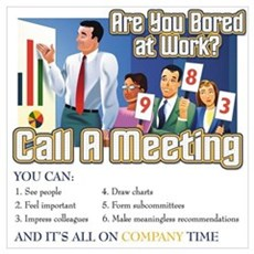Call A Meeting Framed Print