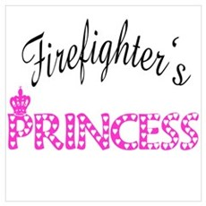 Firefighters's Princess Framed Print