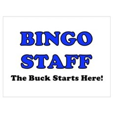 Bingo Staff Blue Framed Print