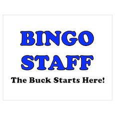 Bingo Staff Blue Poster