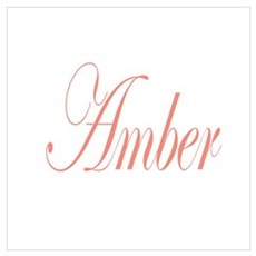 Cursive Amber Poster