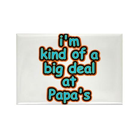 Big Deal At Papa's Rectangle Magnet
