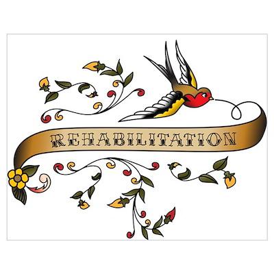 Rehabilitation Scroll Poster