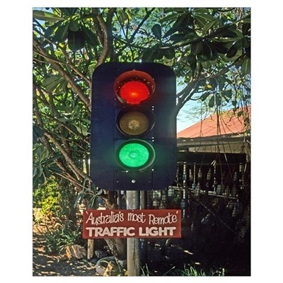 World's Most Remote Traffic Light Poster