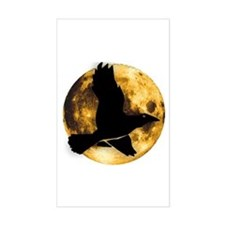 Full Moon with Raven Decal