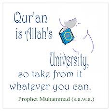 Qur'an is Allah's University Poster