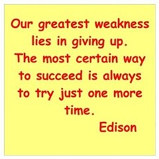 Thomas Edison quotes Poster