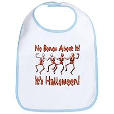 Dancing Halloween Skeletons Bib