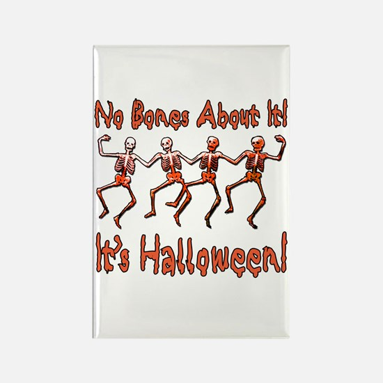 Dancing Halloween Skeletons Rectangle Magnet