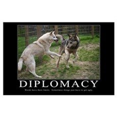 Diplomacy Demotivational (Large) Poster