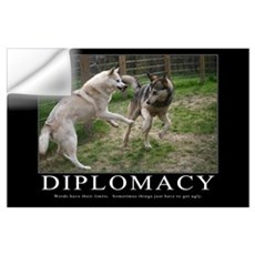 Diplomacy Demotivational (Large) Wall Decal
