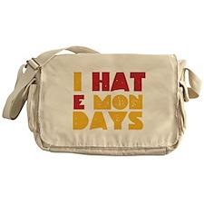 I Hate Mondays Messenger Bag