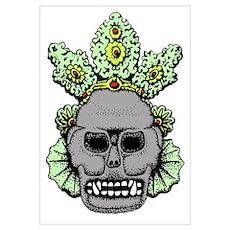 Mesoamerican Skull Poster