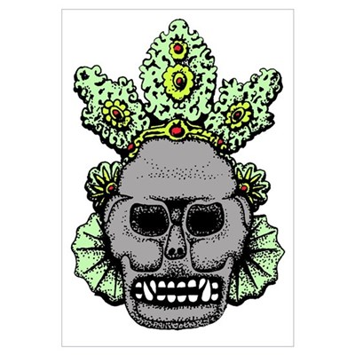 Mesoamerican Skull Canvas Art