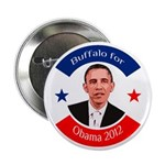 Buffalo for Obama political button