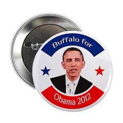 Buffalo for Obama political button