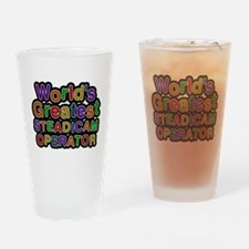 Worlds Greatest STEADICAM OPERATOR Drinking Glass