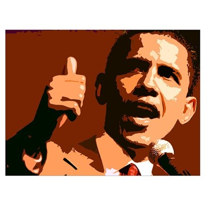 Two Thumbs Up Obama Poster